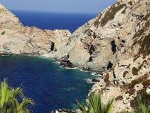Türkis Azure Blue Paradise Bay Heraklion, Kreta, Griechenland stock video footage