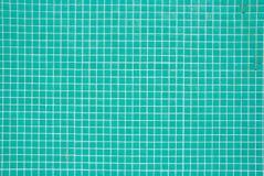 Türkis deckt Muster mit Ziegeln Stockfotografie