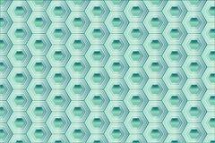 Türkis-Hexagon-Muster lizenzfreie abbildung