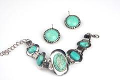 Türkis jewelery lizenzfreies stockfoto