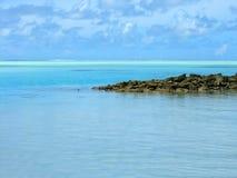 Türkis-Lagune maldives Stockbild