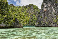 Türkis-tropisches Paradies-Strand-Ozean-Meer Crystal Water Clear lizenzfreie stockfotografie