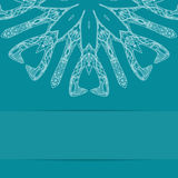 Türkisblaukarte mit aufwändigem Muster Stockfotos