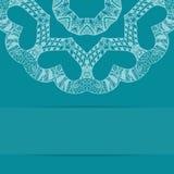 Türkisblaukarte mit aufwändigem Muster Stockfoto