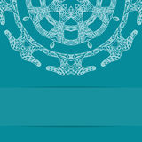 Türkisblaukarte mit aufwändigem Muster Stockfotografie