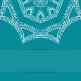 Türkisblaukarte mit aufwändigem Muster Lizenzfreie Stockbilder