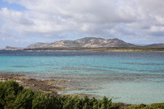 Türkisbucht auf Sardinien-Insel, Italien stockfotos