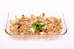 Türkische Art köstliches manti Tatar borek Lizenzfreie Stockbilder