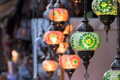 Türkische Art-Lampen Stockbilder