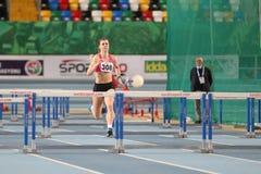 Türkische athletische Vereinigungs-olympische Schwellen-Innenwettbewerb stockfotos