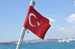 Türkische Flagge Lizenzfreies Stockfoto