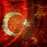 Türkische Flagge lizenzfreie abbildung