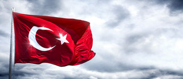 Türkische Flagge stockfotografie