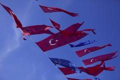 Flaggen von der Türkei lizenzfreie stockbilder