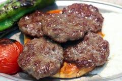 Türkische Fleischklöschen Lizenzfreie Stockbilder