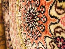 Türkische Hand gesponnene Wolldecke Stockbild