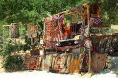 Türkische handgemachte Teppiche Stockfoto