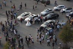 Türkische Hochzeit in Berlin Stockbild