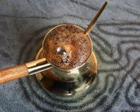 Türkische Kaffeekanne Stockbild