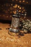 Türkische Kaffeemühle Stockbild