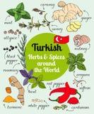 Türkische Kräuter und Gewürze Stockfoto