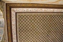 Türkische Kunst der Osmane mit geometrischen Mustern stockbilder