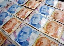 Türkische Lira mit AtatÃ-¼ rk Bild lizenzfreie stockfotos