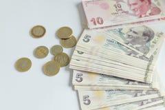 Türkische Lira, türkisches Geld-türkischer Türke Parası Stockbilder