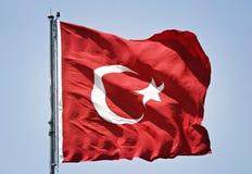 Türkische Markierungsfahne Lizenzfreie Stockfotos