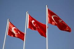 Türkische Markierungsfahne Stockfoto