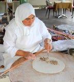 Türkische nationale Küche - Tortillas mit Fleisch Lizenzfreies Stockbild