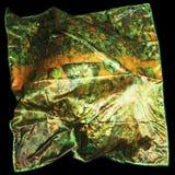 Türkische orientalische schöne Schals mit Bildern der natürlichen Seide auf einem schwarzen Hintergrund Stockfotos