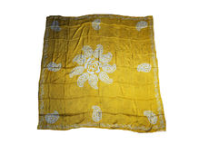 Türkische orientalische schöne Schals mit Bildern der natürlichen Seide auf einem weißen Hintergrund Stockfotografie