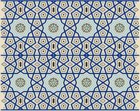 Türkische Osmaneart mit den blauen, schwarzen, gelben Fliesen Lizenzfreies Stockfoto