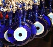 Türkische Perlen des Aberglaubebösen blicks, (Nazar-Perlen) lizenzfreies stockfoto