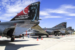 Türkische Phantome der Luftwaffen-F4 Lizenzfreies Stockfoto
