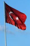 Türkische rote Fahne Lizenzfreies Stockfoto