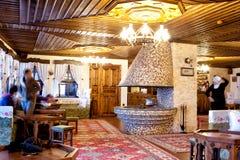 Türkische traditionelle Innenarchitektur Bursa die Türkei stockfoto