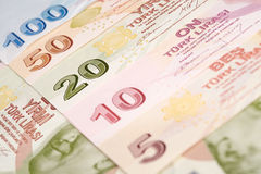 Türkische Währung Stockfoto