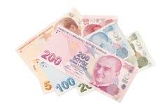 Türkische Währung - Beschneidungspfad lizenzfreies stockfoto