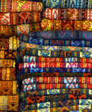 Türkische Wolldecken Stockfotos