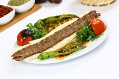 Türkischeadana-Kebab Stockbild