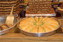Türkischer Baklavanachtisch Stockfotos
