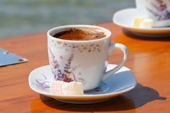 Türkischer Kaffee und Freude Stockbild