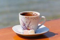 Türkischer Kaffee und Freude Stockfotografie