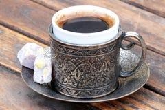 Türkischer Kaffee und türkische Freude stockfotografie