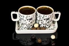 Türkischer Kaffee in zwei Cup stockbild