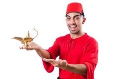 Türkischer Mann mit Lampe Stockfoto
