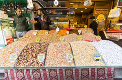Türkischer nuts Bonbonfreudenbasar Lizenzfreie Stockfotografie