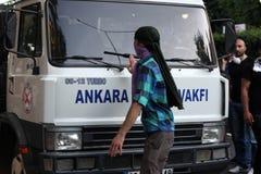 Türkischer Protest in Ankara Lizenzfreies Stockfoto